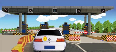 驾驶图中这车辆小型客车能否进入高速公路行驶?
