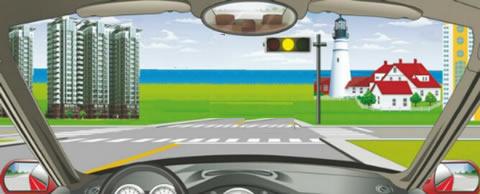 在路口遇到图中这种黄灯不断闪烁时,说明什么情况?