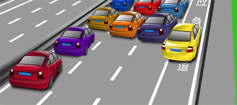 图中黄色小型客车驾驶人违法占用高速公路应急车道行驶,会被记12分。