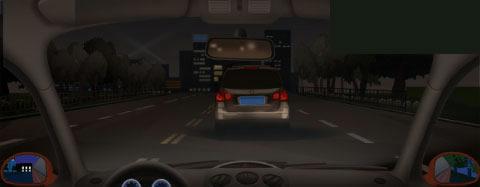 请判断前方小型客车什么地方违反了规定?