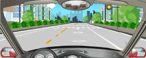 看到路边有一个黄灯闪烁时,正确的做法是什么?