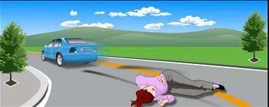 图中机动车驾驶人事故逃逸的行为是违法行为,会被记12分。