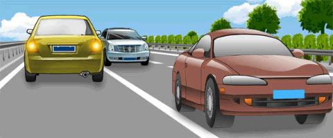 图中黄色小型客车驾驶人违法在高速公路逆向行驶,会被记6分。