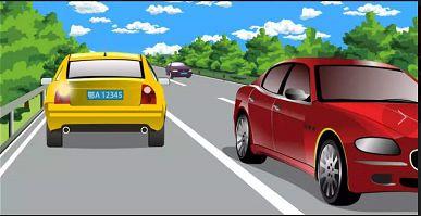 图中黄色机动车驾驶人在高速公路逆向行驶,会被记6分。