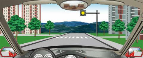 看到图中所示道路信号灯不断闪烁时,说明前方发生了什么情况?