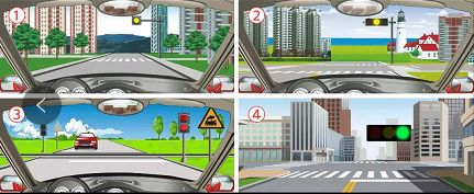 下面哪个信号灯闪烁表示前方路口或道路是危险路段?