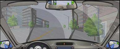 在图中所示的这种天气行车,由于能见度较低,需要开启远光灯告知对向来车。