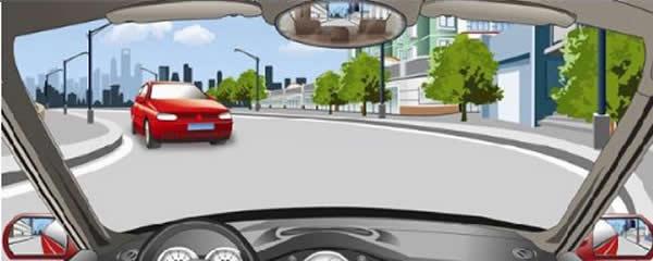 在这种没有道路中心线的弯道上怎样安全会车?