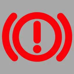 机动车仪表板上(如图所示)亮,表示行车制动系统可能出现故障。