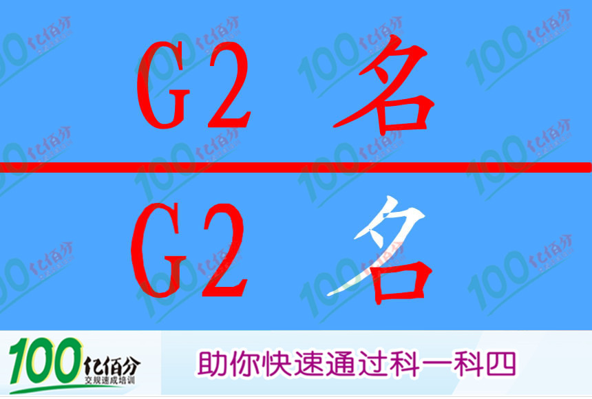 前方标志指示高速公路的名称和编号。