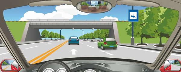 这个标志提示该路段已实行交通监控。
