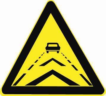 遇到这个标志时,您应该主动确认您与前车之间的距离。