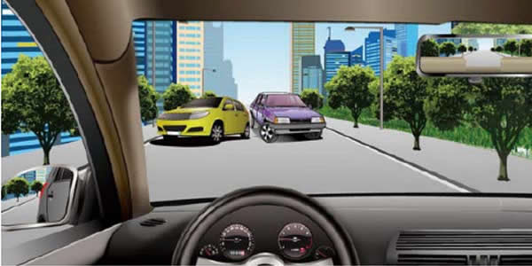 如图所示,驾驶机动车遇到对向来车正在强行超车时,以下做法正确的是什么?
