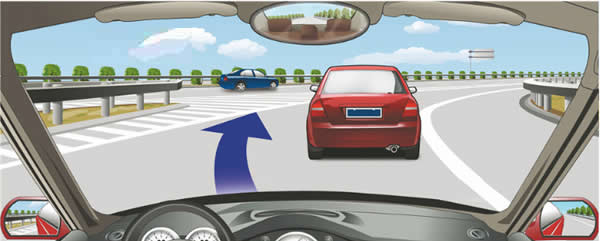 驾驶机动车遇到这种情况可迅速从前车左侧超越。