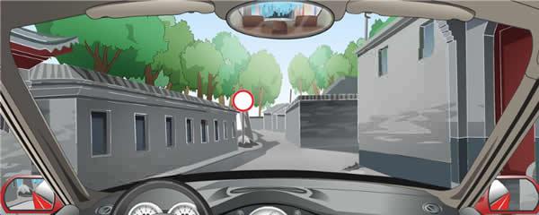 左侧标志表示前方路段允许进入。