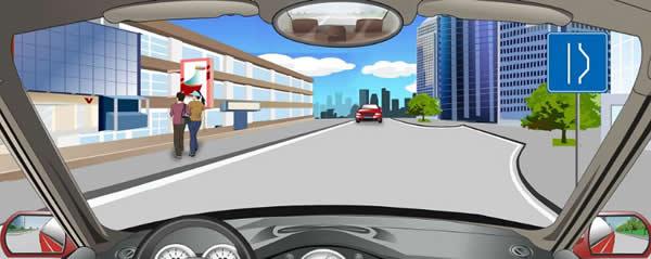 右侧标志指示前方设有避让来车的处所。