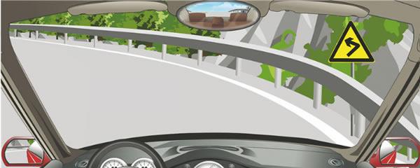 驾驶机动车在这种山区弯路怎样行驶?