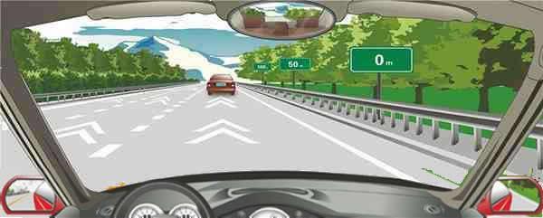 高速公路安全距离确认路段用于确认车速在每小时100公里时的安全距离。