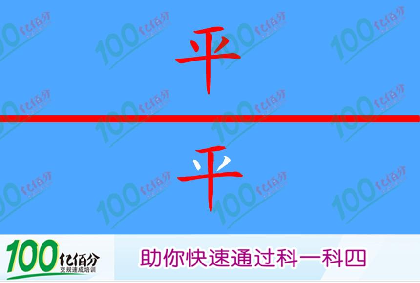 右侧这个标志提醒前方路面不平。