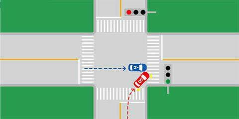 如下图所示的交通事故中,有关事故责任认定,正确的说法是什么?