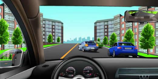如图所示,驾驶机动车遇到前方车辆正在停车时,以下做法正确的是什么?