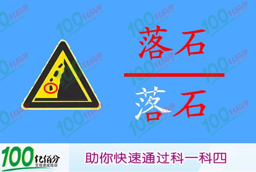 右侧标志提醒前方是左侧傍山险路。