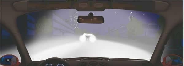 夜间驾驶机动车遇到这种情况时怎样处理?