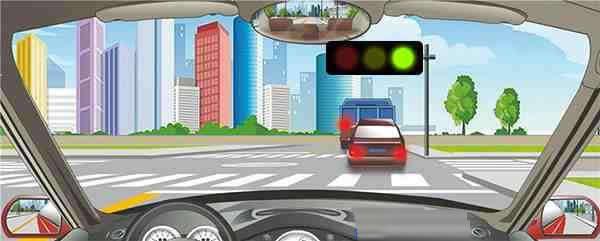 驾驶机动车在交叉路口遇到这种情况如何对待?