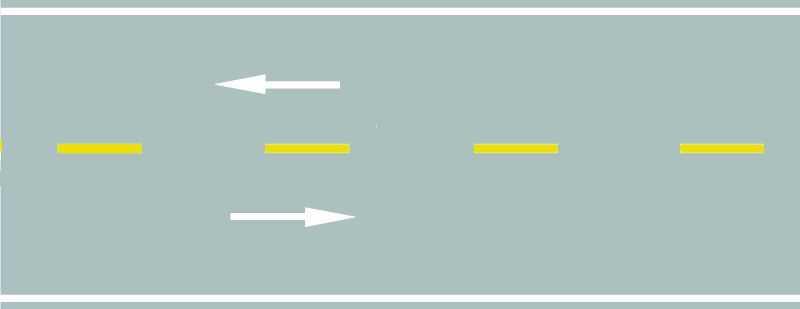路中心黄色虚线属于哪一类标线?