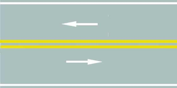 路中心的双黄实线作用是分隔对向交通流,在保证安全的前提下,可越线超车或转弯。