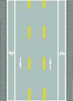 路中两条双黄色虚线是什么标线?