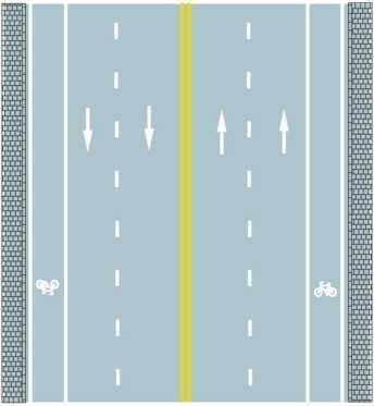 路中心双黄实线是何含义?