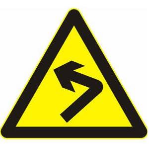 这个标志的含义是警告前方出现向左的急转弯路。