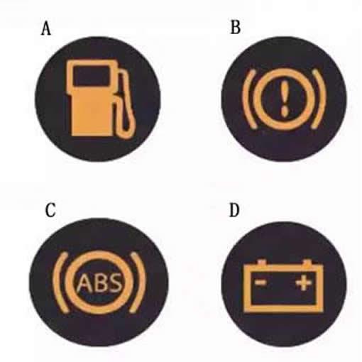 图中哪个报警灯亮,提示充电电路异常或故障?