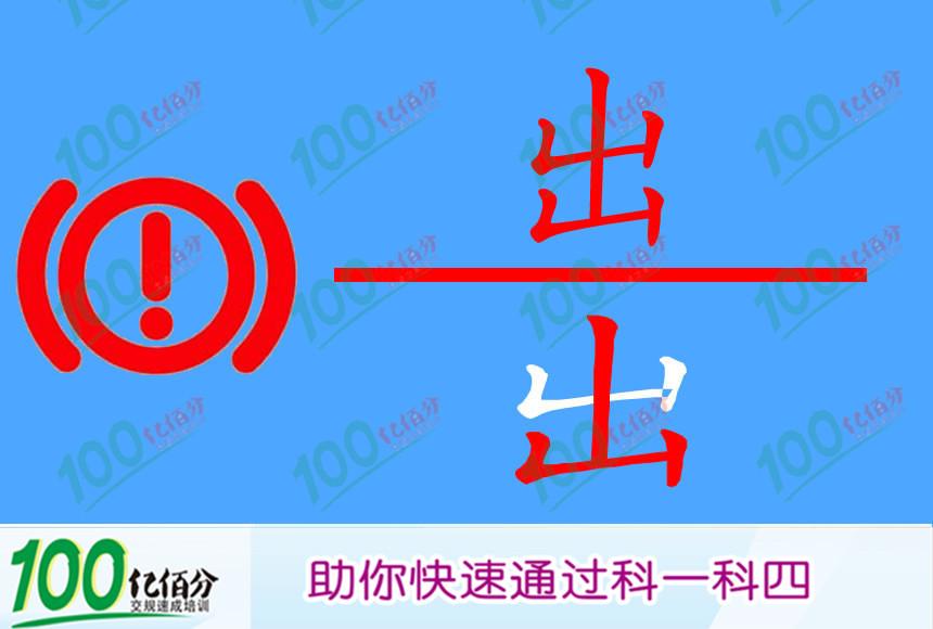 机动车仪表板上(如图所示)亮表示什么?