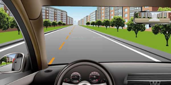 如图所示,这种情况下只要后方、对向无来车,可以掉头。