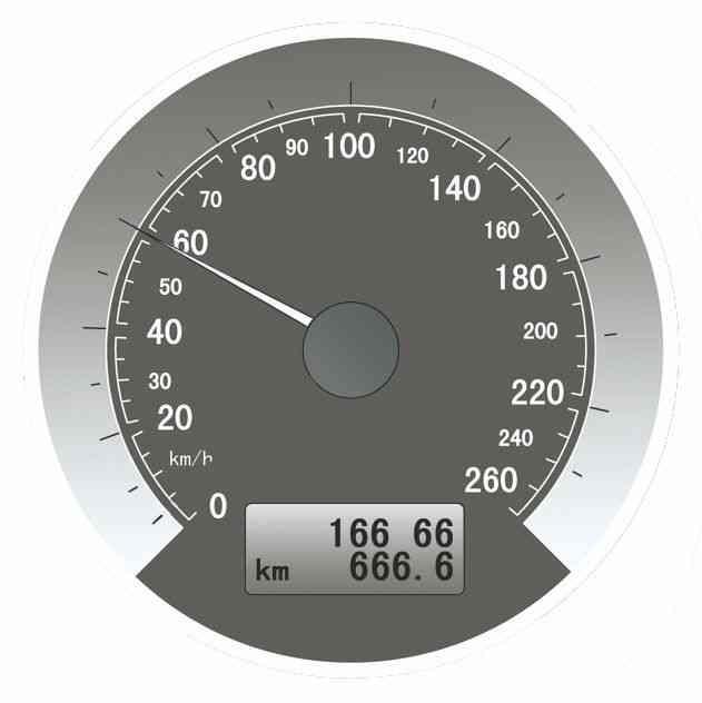 仪表显示当前发动机转速是6000转/分钟。