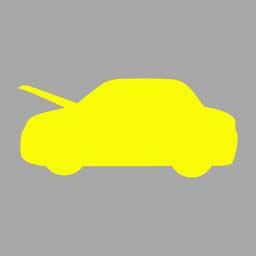 机动车仪表板上(如图所示)亮,提示行李舱开启。