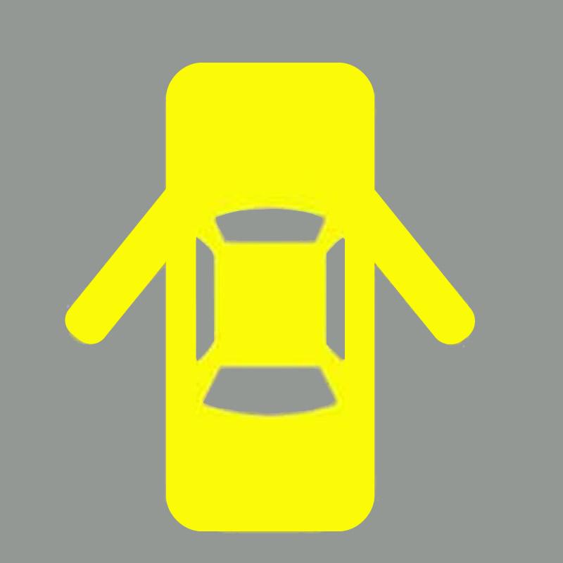机动车仪表板上(如图所示)亮,提示两侧车门未关闭。