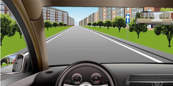 如图所示,在这种情况下只要后方没有来车,可以倒车。
