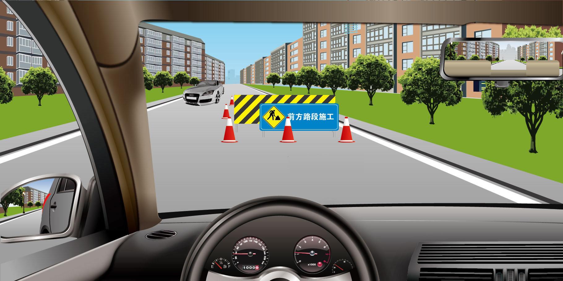 如图所示,在这种情形下,对方车辆具有先行权.