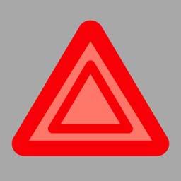开启危险报警灯时,(如图所示)闪烁。