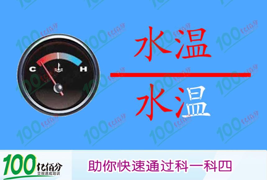 以下哪个仪表表示水温表?