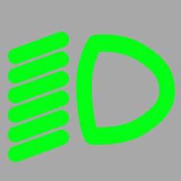 机动车仪表板上(如图所示)亮时表示什么?