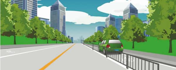 这个路段可以在非机动车道上临时停车。