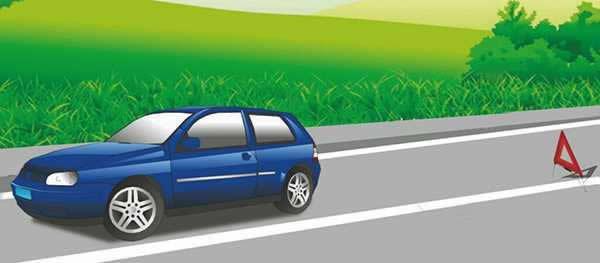这辆停在路边的机动车没有违法行为。