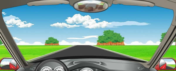 驾驶机动车在这种道路上如何通行?