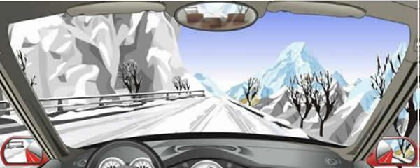 车在这种条件的道路上,最高速度不能超过每小时50公里。
